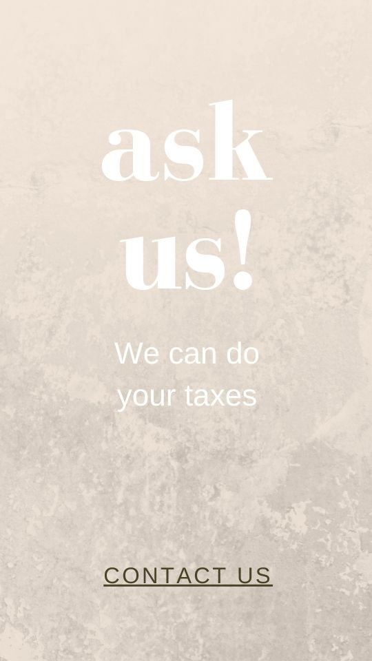 Ask us for tax help!
