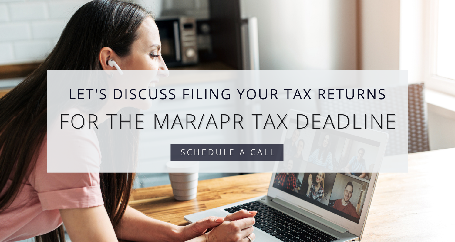 File your tax return for the April March 2021 deadline with our Atlanta CPA team
