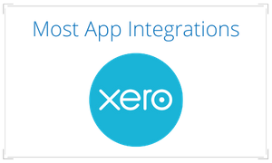 Xero Software has the most app integrations of all the software we implement