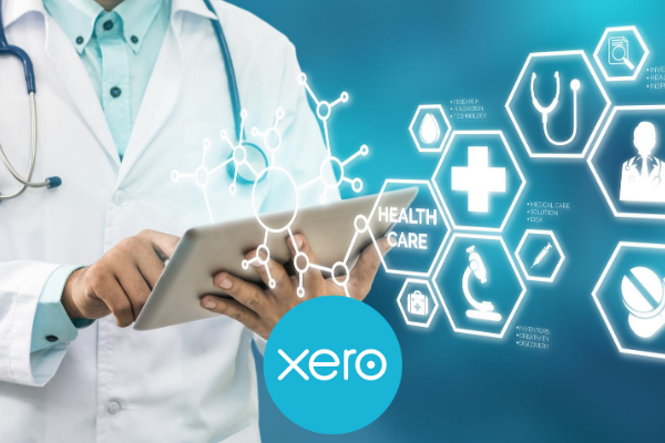 Xero accounting software on a tablet