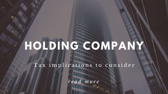 Holding Company Tax Implications